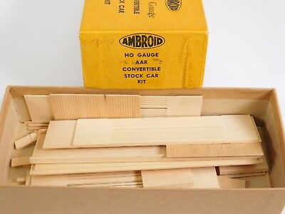 HO Scale Ambroid AAR Convertible Stock Car Unpainted Model Train Kit INCOMPLETE