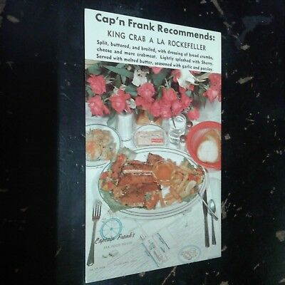 Vintage Postcard Captain Franks Seafood House Cleveland  Ohio