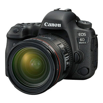 NEW Canon EOS 6D Mark II DSLR Camera with EF 24-70mm f/4L IS USM Lens