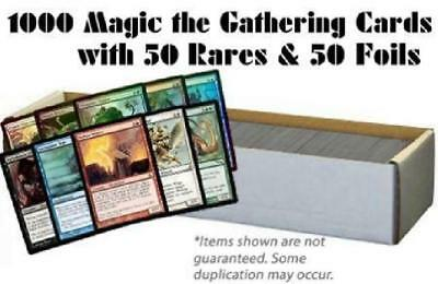 1000 Magic the Gathering Cards with 50 Rares & 50 Foils (MTG) NM Lot