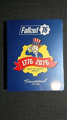 NEW Sealed PS4 Fallout 76 Tricentennial Steelbook & Game fromPower Armor Edition