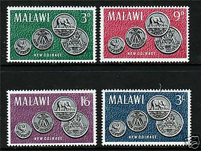 Malawi 1965 First Coinage SG 232/5 MNH