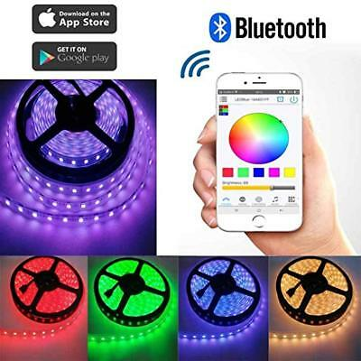 5050 RGB 5M 300 LEDS SMD LED Strip Light 12V Waterproof + Bluetooth Controller
