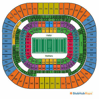 New Orleans Saints vs Carolina Panthers - 2 Tickets - Section 539