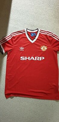 official photos b972d 52bff ADIDAS ORIGINALS MANCHESTER United Man Utd 1984 Home Jersey EXTRA LARGE