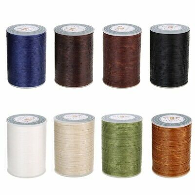 0.8mm Waxed Thread Repair Cord String Sewing Leather Hand Wax Stitching DIY 78M