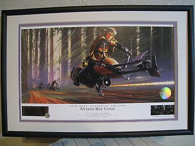 SPEEDER BIKE CHASE STAR WARS  Ralph McQuarrie signed Lithograph