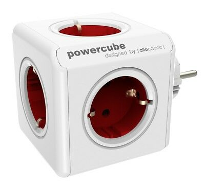 Mehrfachsteckdose allocacoc PowerCube Original rot Type F für Extended Cubes