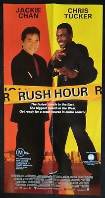 DAYBILL MOVIE POSTER - ORIGINAL - RUSH HOUR  Jackie Chan, Chris Tucker