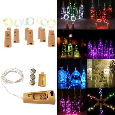 1.5M Cork Shape String Fairy Night Light Wine Bottle LED Battery Lamp BE