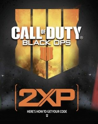 Call Of Duty Black Ops 4 - Double XP Code For 2 Hours (Amazon)