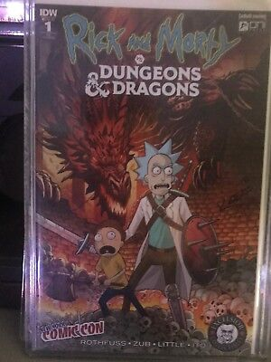 Rick And Morty vs Dungeons & Dragons #1 Excelsior NYCC Exclusive Signed Kotkin