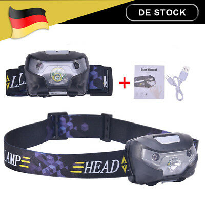 3W LED Stirnlampe Kopflampe Headlamp Headlight Jogging Licht Arbeitslampe USB