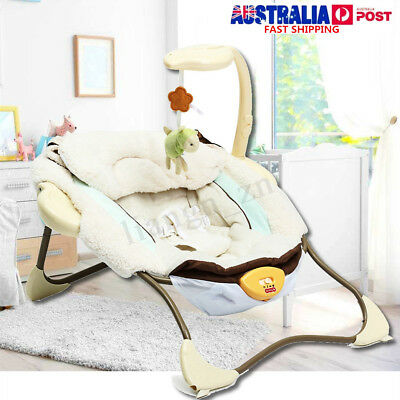 Infant Baby Bouncer Electric Sleeper Seat Reclining Vibration Chair Toy Music AU