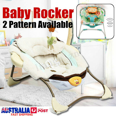 Baby Infant Rocker Bouncer Newborn Toddler Electric Swing Reclining Chair W/ Toy
