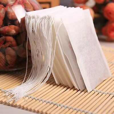 100x non-woven Empty Teabags String Heat Seal Filter Paper Herb Loose Tea Bags