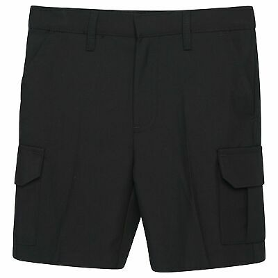 Boys Cargo School Shorts Uniform Adjustable Waist Black, Grey & Charcoal Grey
