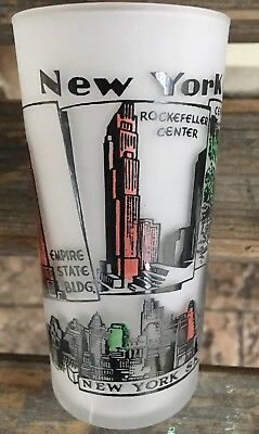 Vintage Hazel Atlas Souvenir Tumbler - NEW YORK City! Empire State Etc .