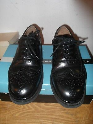 Florsheim Comfortech Bristow Black Leather Wing Mens Size 8