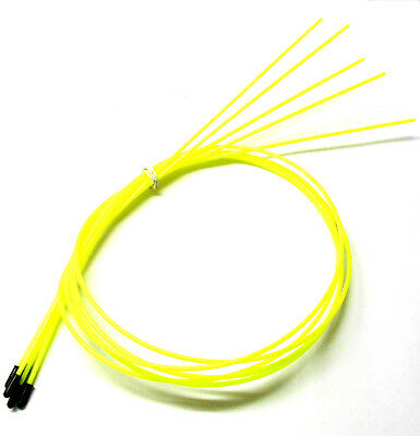 56411R RC Receiver Wire Antenna Pipe with Caps x 5 Fluorescent Pink 380mm Long