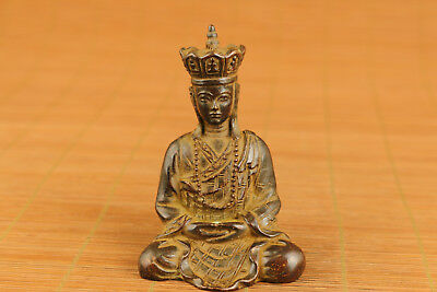 nice tibet bronze hand carved tangseng statue figure collectable ornament art