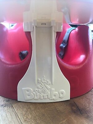 Red Bumbo Baby Seat used once
