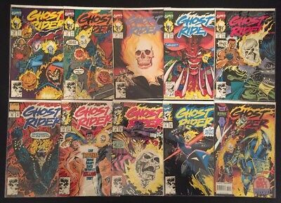 GHOST RIDER 10 Comic Lot - VF/NM, 1990, #16, 17, 18, 19, 20, 23, 32, 33, 35, 51