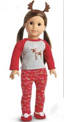 New In Box American Girl Reindeer Christmas Pajamas Doll Christmas Holiday Pj's