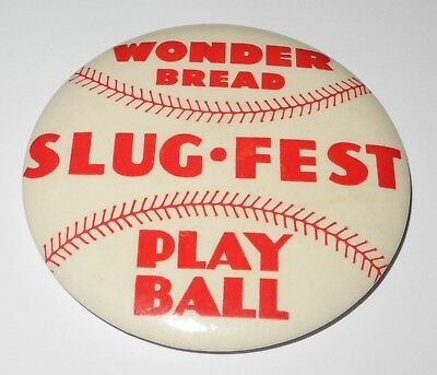 1930's Wonder Bread Baseball Pin Button Worn for Promotion Event by Store Clerk