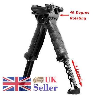 Quick Release Tactical Foregrip Bipod Swivel For 20mm Rail Mount Hunting New