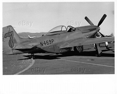 Vintage Aircraft Photo P-51 Mustang Ww2 Post War Racer Racing N469P Crashed 1973