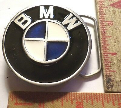 Vintage BMW belt buckle motorcycle collectible old biker clothing accessory
