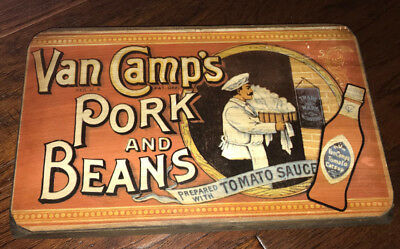 Bristol Craft Van Camp's Pork and Beans Wood Wall/Standing Decoration!!