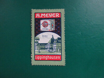 Lippinghausen: Reklamemarke (Vignette): H. Meyer,  Rathaus Herford