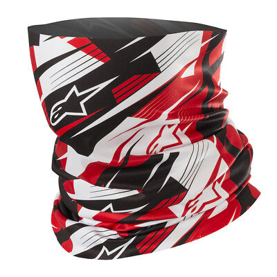 NEW Alpinestars Blurred Unisex Motorcycle Spring/Summer Neck Tube - Black/Red
