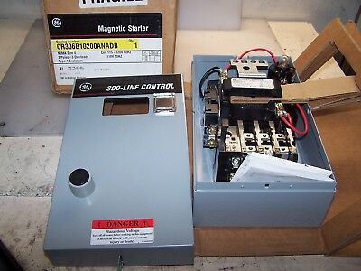 New Ge Size 0 Enclosed Motor Starter 5 Hp 18 Amp W/ H.o.a Cr306B1**00Anadb