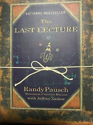 The Last Lecture by Jeffrey Zaslow, Randy Pausch (2008, Hardcover) VG with DJ