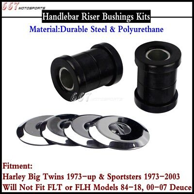Handlebar Riser Bushing Kits For Harley Big Twins 1973-up & Sportsters 1973-2003