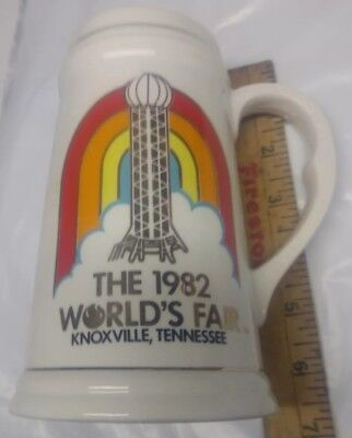 Vintage Beer Stein 1982 World's Fair Knoxville, TN Perfect Condition