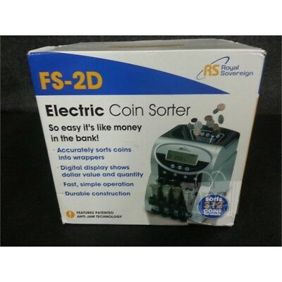Royal Sovereign FS-2D Electric Coin Sorter, Sorts 312 Coins Per Minute