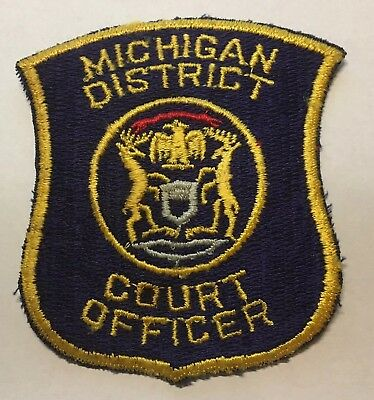 Old Michigan District Court Officer Patch