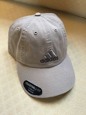 52eacd9b10f8a Adidas Washed Khaki Hat Cap Climalite Weekend Warrior Adjustable Retail- 20  Nwt
