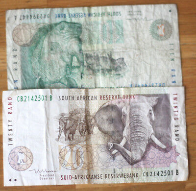 10+20 Rand, Bank of South Africa.