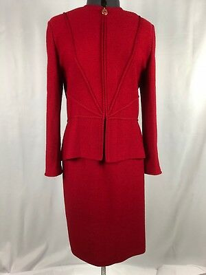 St. John Collection by Marie Gray Beautiful Red Skirt Suite Size 10