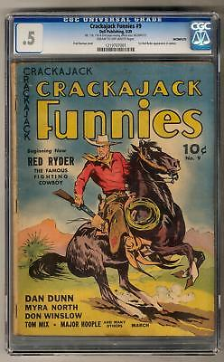 Crackajack Funnies #9 CGC .5 (C-OW) Incomplete Missing Pages 1st Red Ryder in C