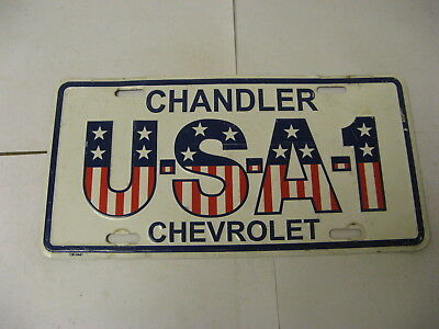 Booster Front License Plate Dealer Chandler Chevrolet Chevy USA 1