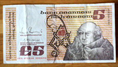 5 Pounds, Bank of Irland Republic, 1976.-93.