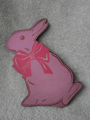 Curious Vintage Colored Cardboard Easter RABBIT OR DUCK 2 Faced Candy Container