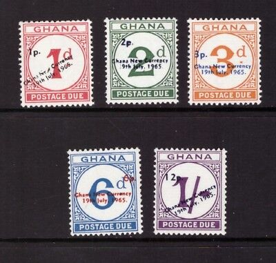 Ghana MNH 1965 Postage due set mint stamps SGD19-23