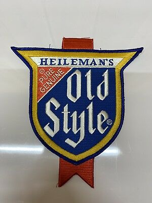 "LARGE VINTAGE HEILEMAN'S GENUINE OLD STYLE BEER PATCH  NEW OLD STOCK 7""x8"""